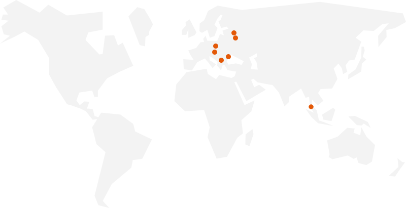 Luxoft Corporate Junior Program locations map